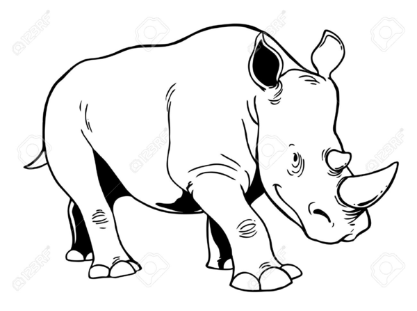 Rhino clipart outline for free download and use images in.