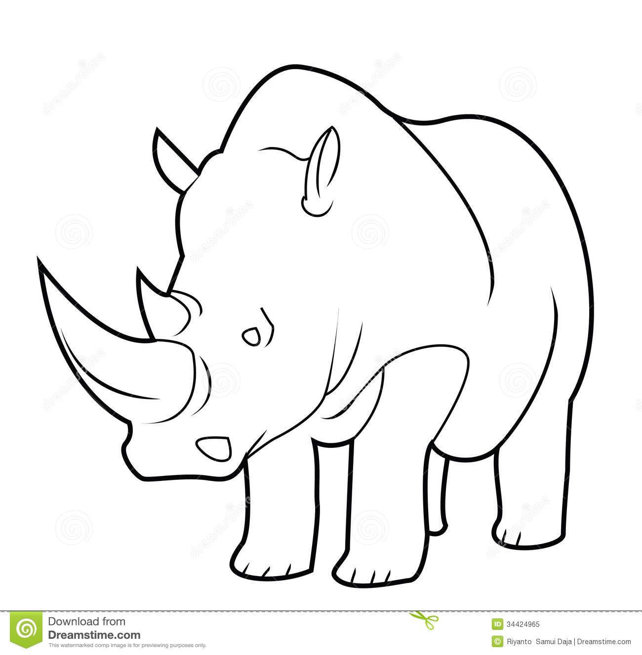 rhinoceros clip art #75.