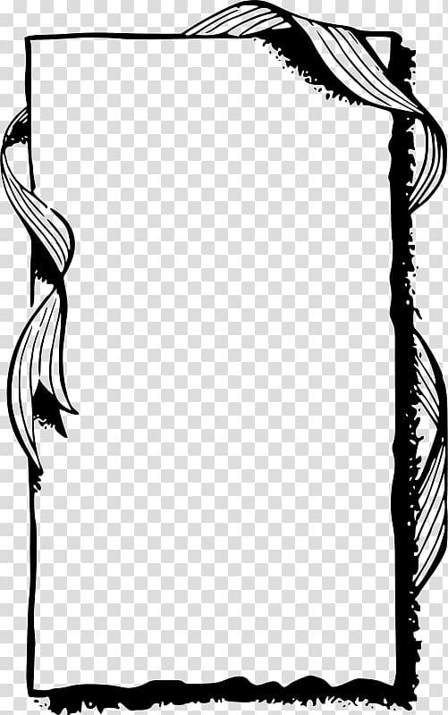 Borders and Frames Frames Black and white , ribbon border.