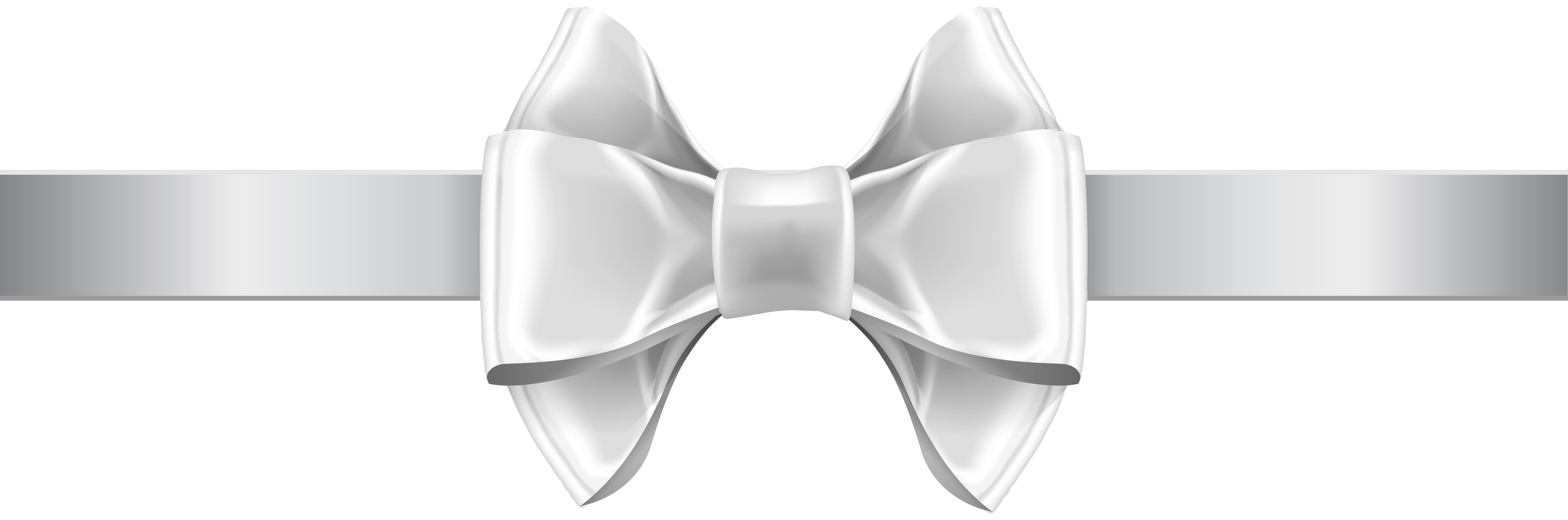 White Bow PNG Clip Art Image.
