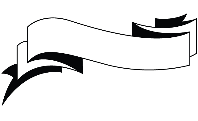 15 Black And White Ribbon Banner Vector Images.