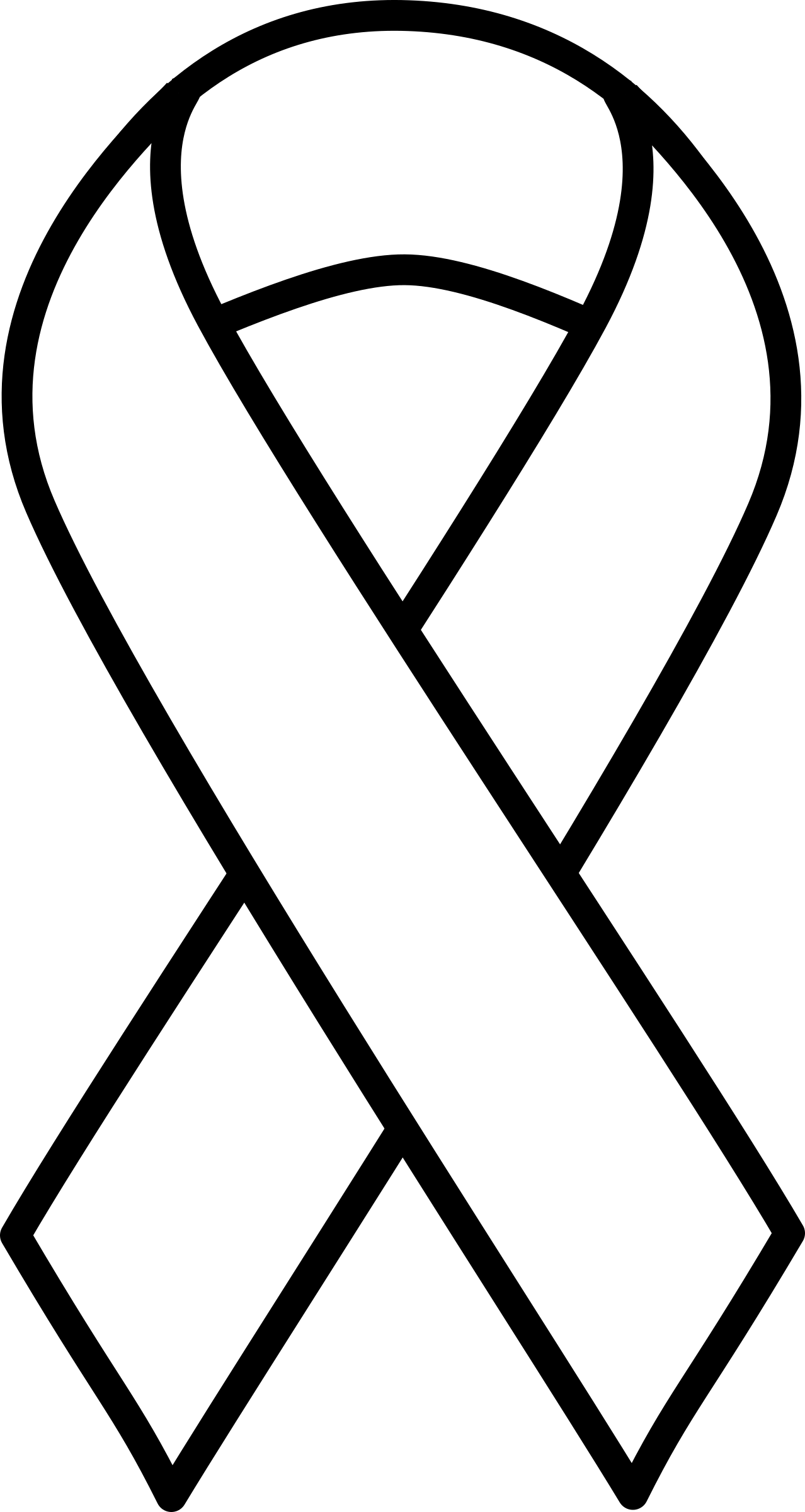 Black and White Ribbon Logo.