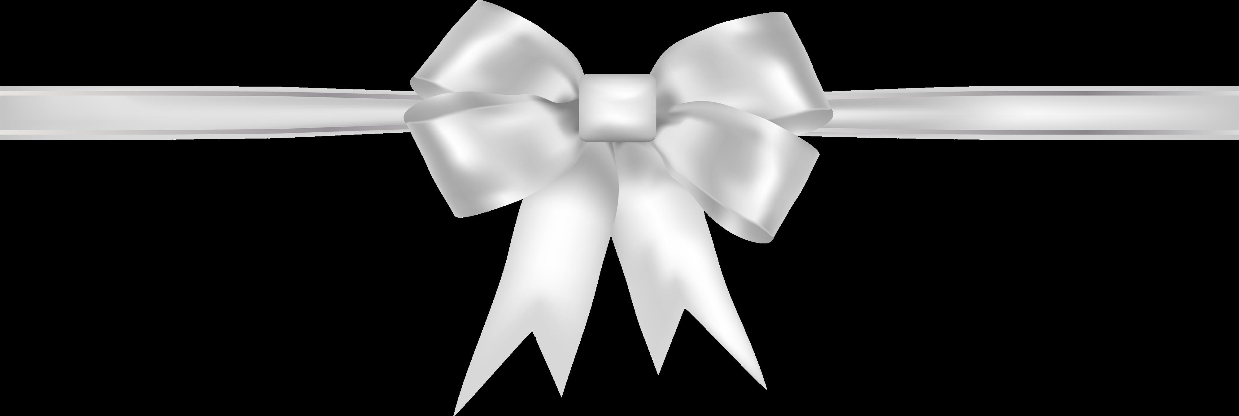 White Ribbon Png Clipart.