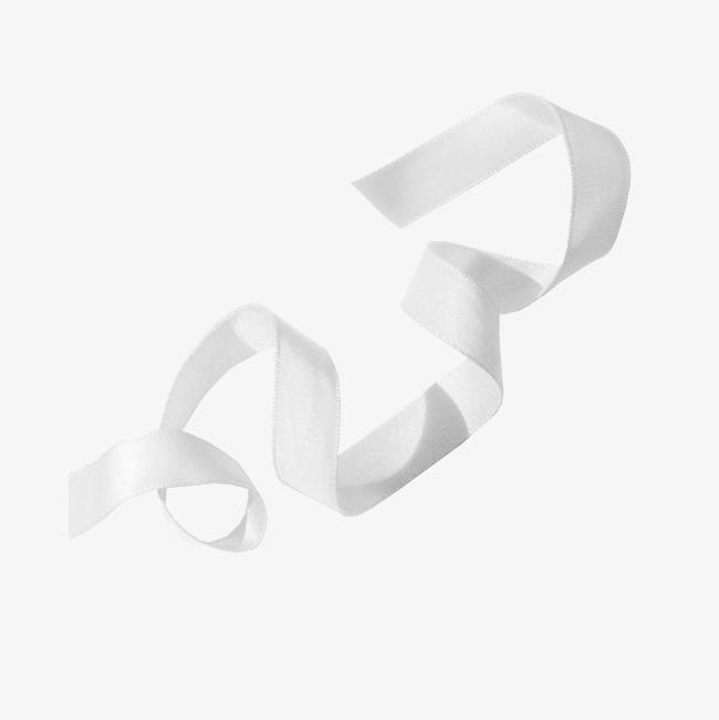 White Ribbon, Ribbon Clipart, Floating Creatives, White PNG.