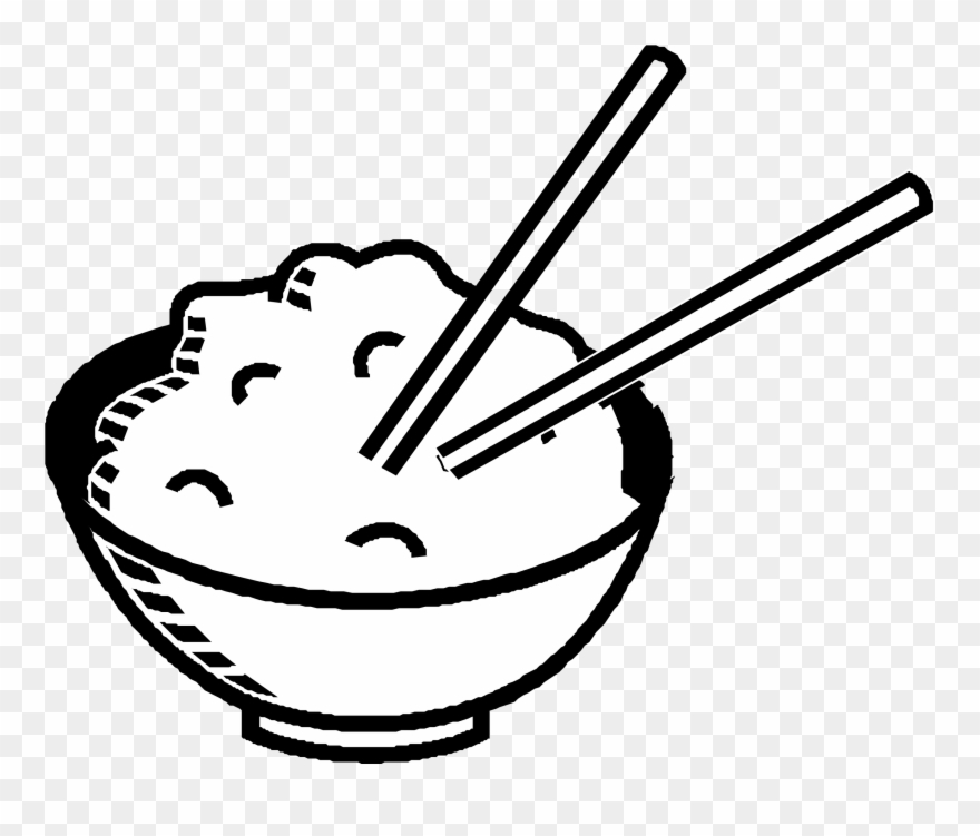 Rice Clipart Black And White.