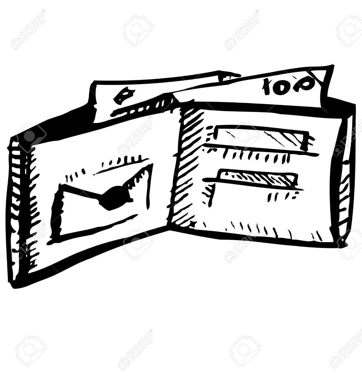 Wallet Clipart Black And White.