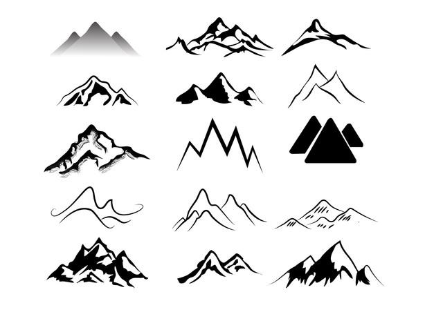 Clip Art Mountain Ridge.