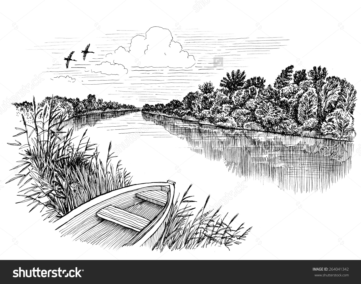 River Clip Art Black And White Image Mag