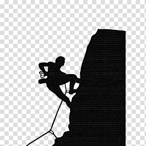 Rock climbing Sport Illustration, Black simple rock climbing.