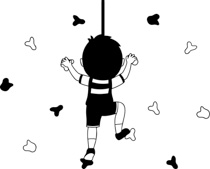 Rock Climber Clipart Black And White.