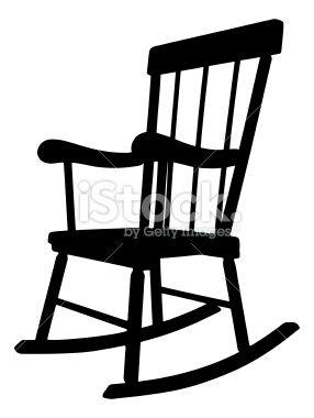 Rocking chair silhouette.