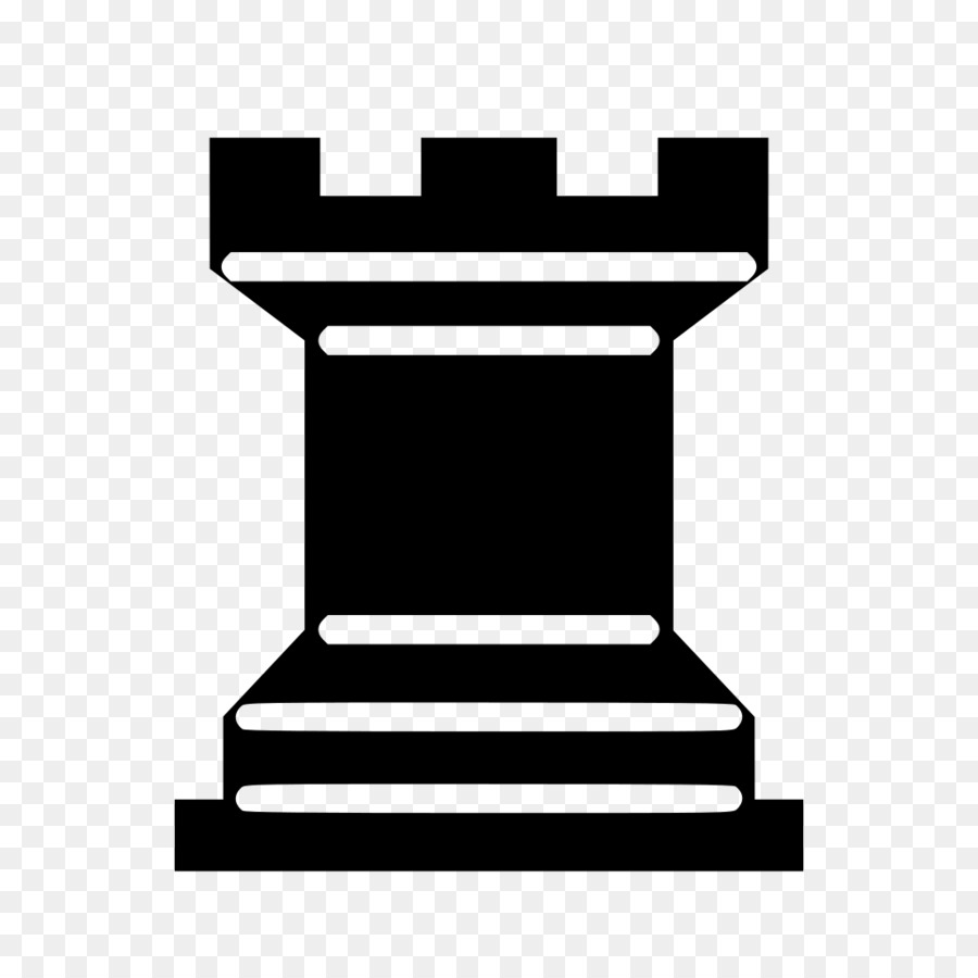 Chess piece Rook Pawn White and Black in chess.