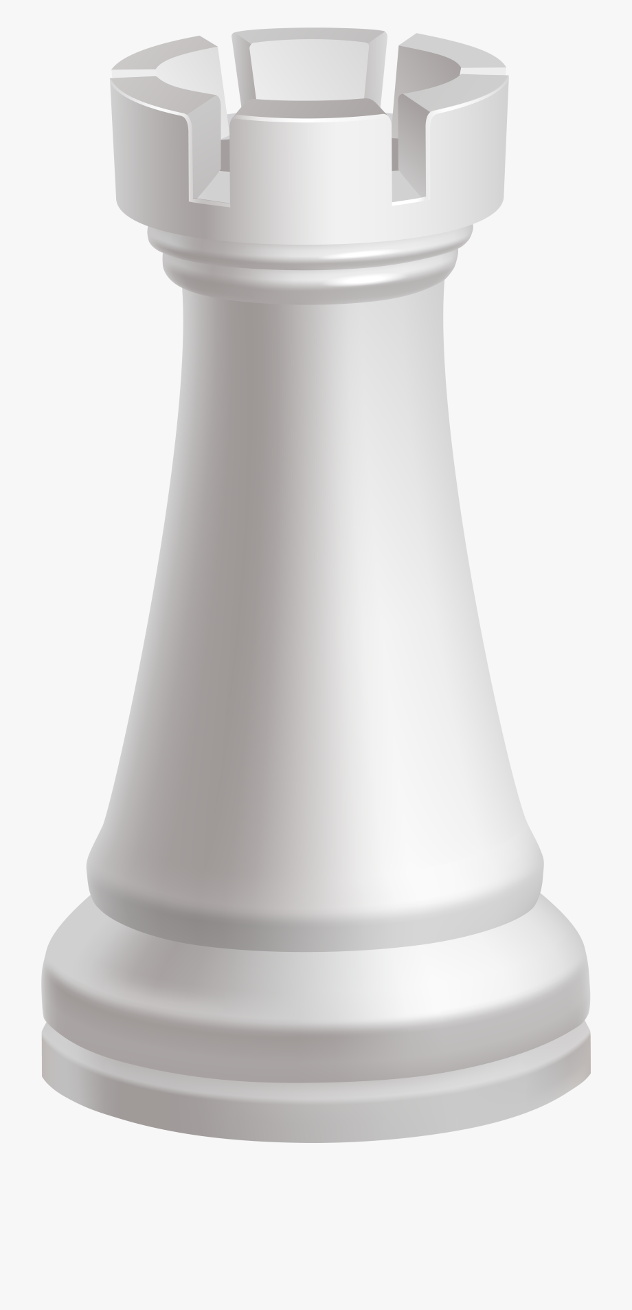 Rook White Chess Piece Png Clip Art.
