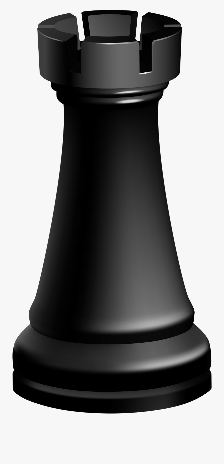 Rook Black Chess Piece Clip Art.