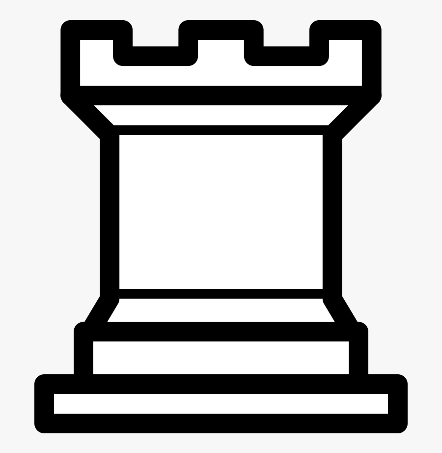 White Rook Chess Piece , Free Transparent Clipart.