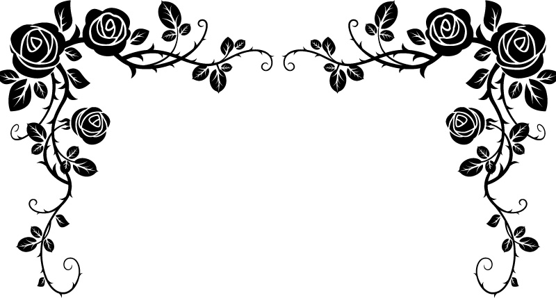 Free Black And White Rose Border, Download Free Clip Art.