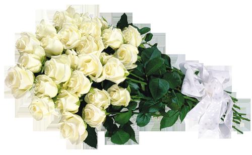 White Roses Transparent Bouquet Clipart.