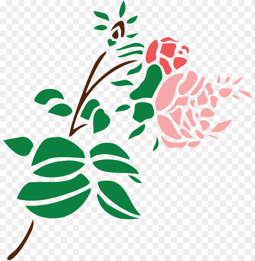 free clipart of a stem of roses.