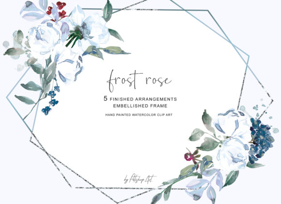 Watercolor White Rose Arrangements Clipa.