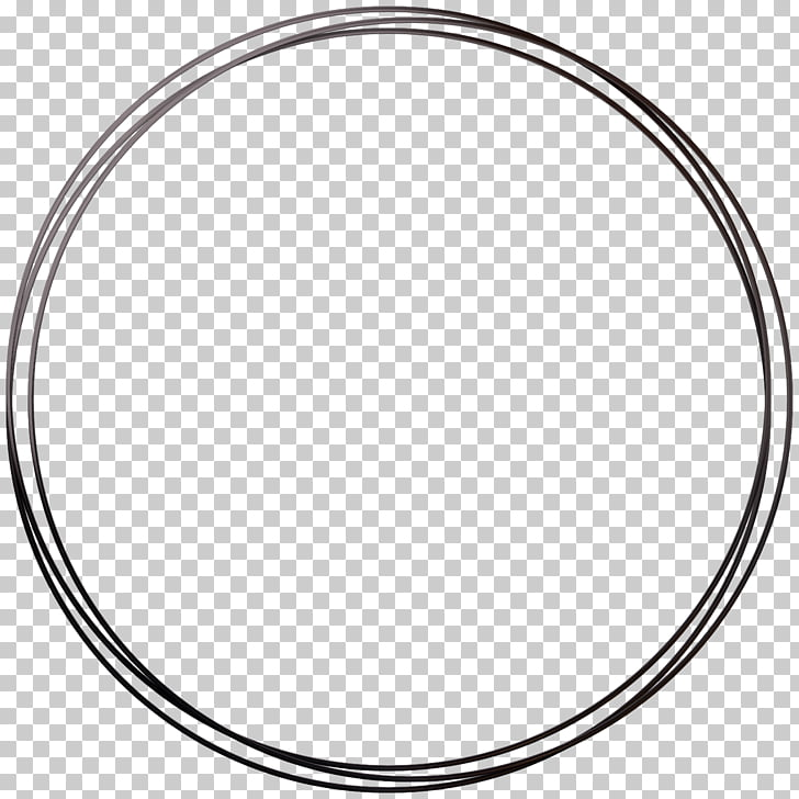 Circle Area Angle Point Black and white, Round frame, round.