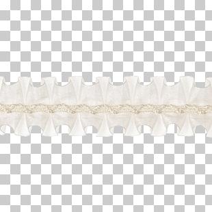 Paper Trim Ruffle , lace border, white bone art PNG clipart.