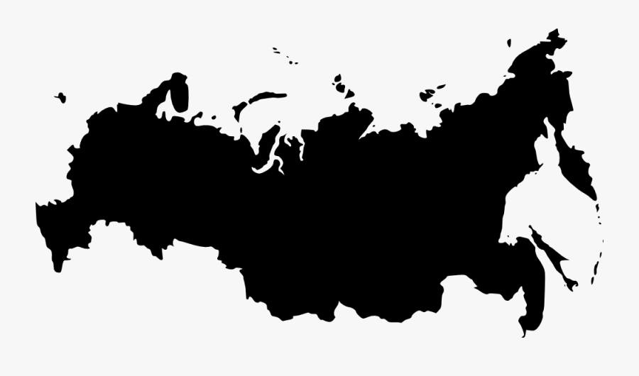 Russia Outline Map.