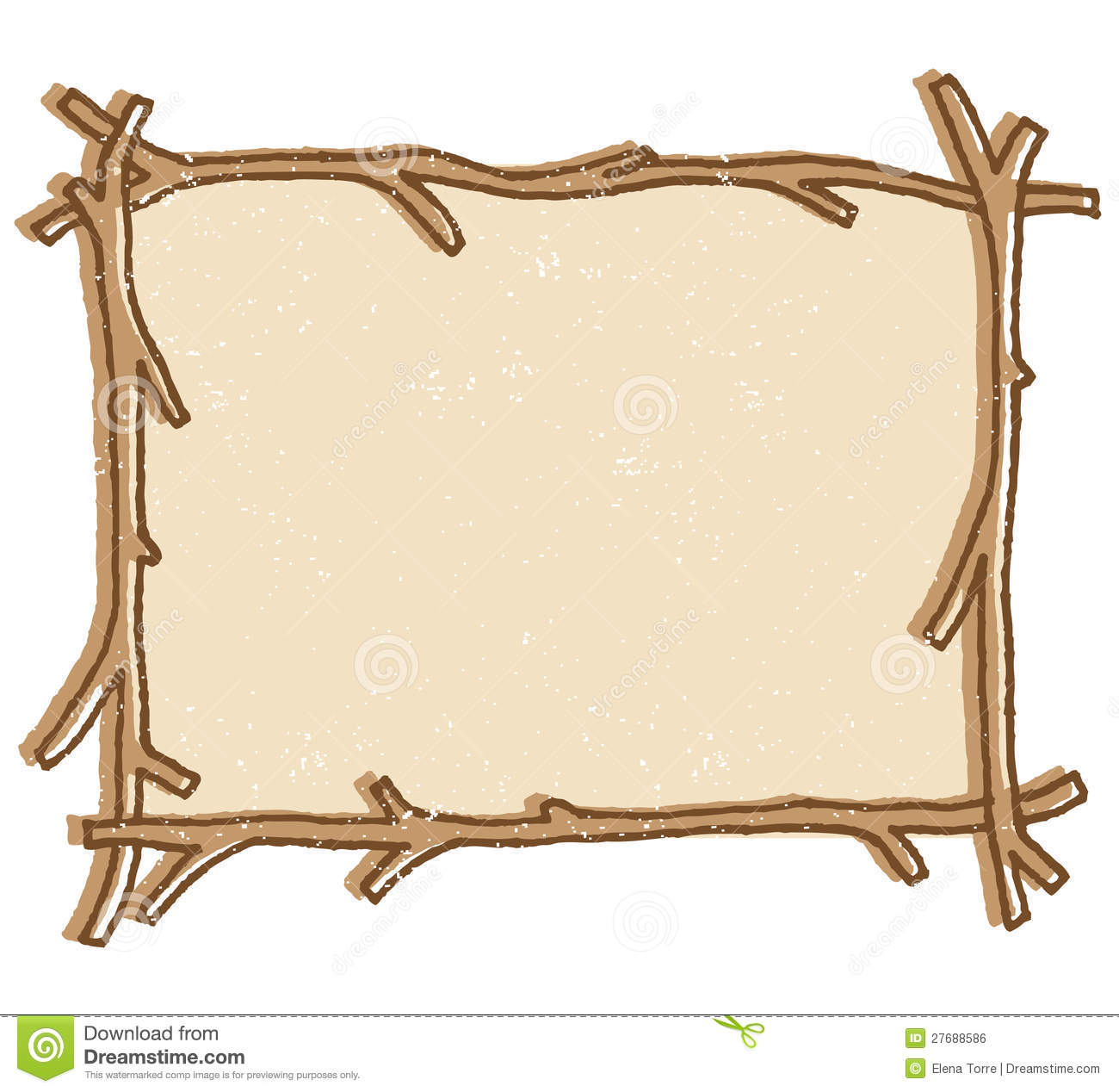 Rustic Frame Clipart.