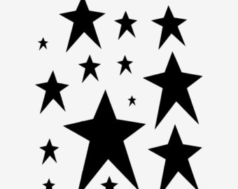 9213 Stars free clipart.