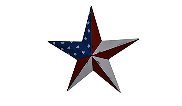 Amazon.com: AMISH WARES 10 Inch Rustic Patriotic Stars and.