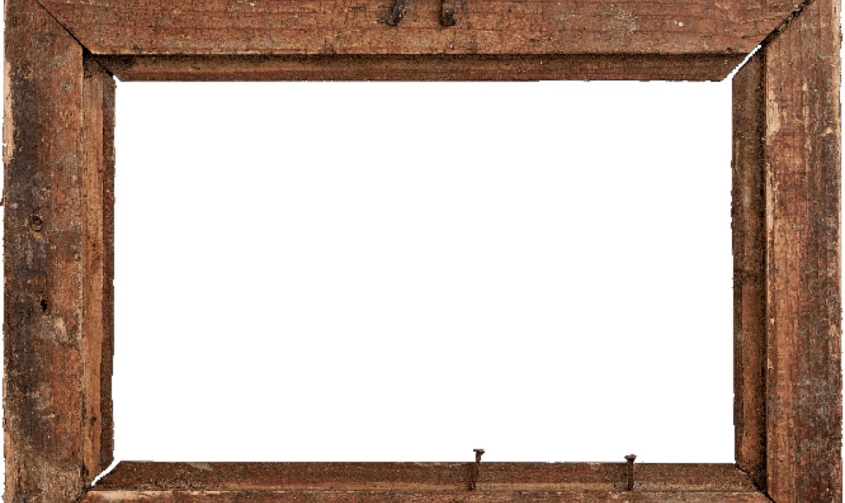Rustic Wood Frame Clipart.