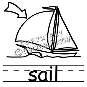Black sails clipart.