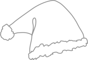 Santa Hat White Clip Art at Clker.com.