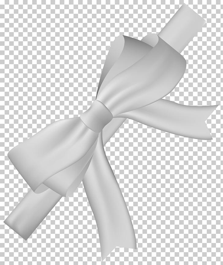 White ribbon , satin PNG clipart.