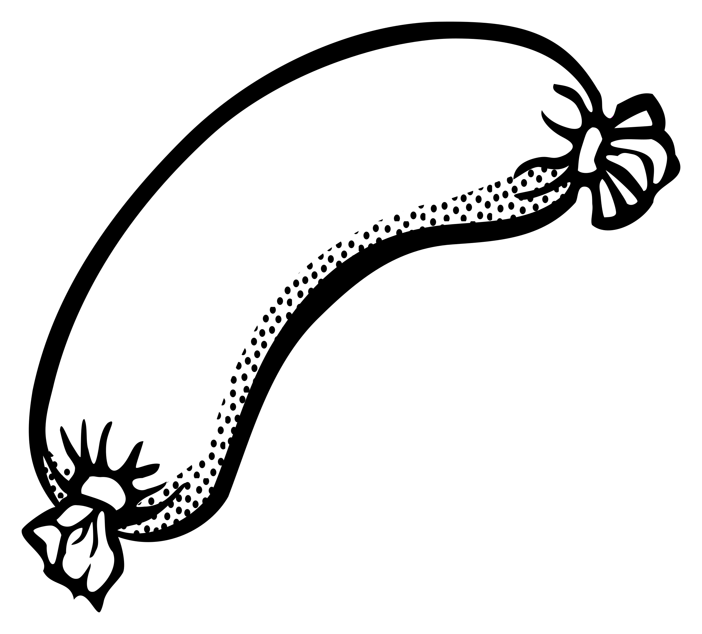 Sausage clipart black and white.