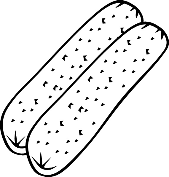 Breakfast Sausage (b And W) clip art Free vector in Open office.