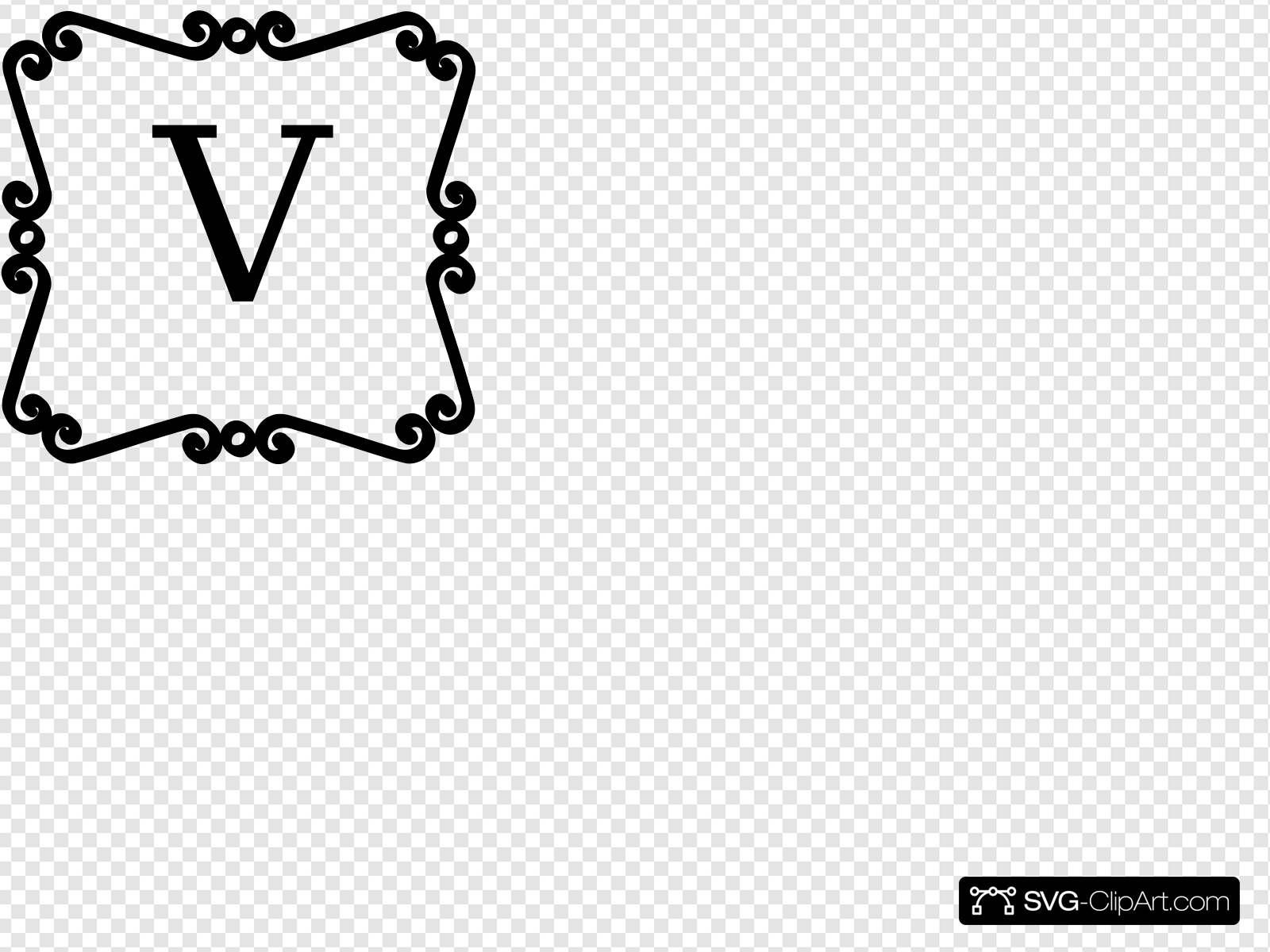 Black And White Scroll Border Clip art, Icon and SVG.