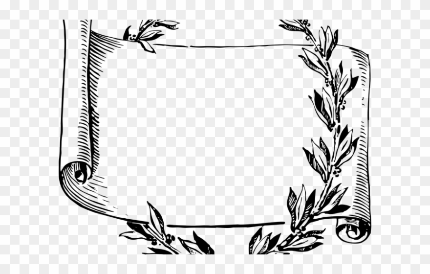Scroll Clipart Flower.