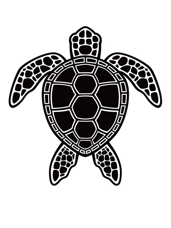 Black and white sea turtle clipart 8 » Clipart Station.