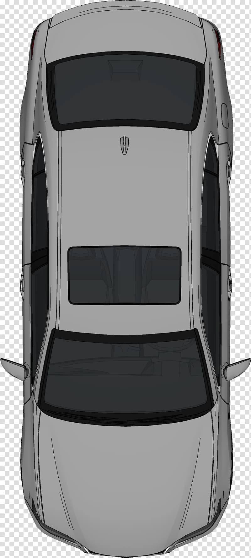 Grey sedan, Car , bed top view transparent background PNG.