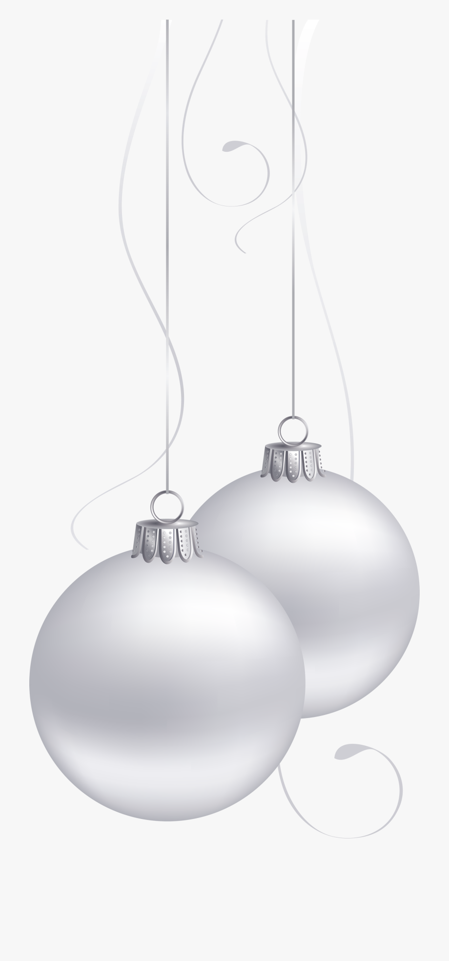 Ornament Transparent White Christmas.