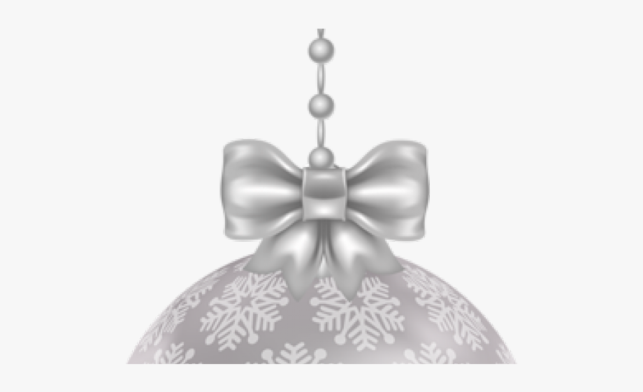 Christmas Ornament Clipart Silver.