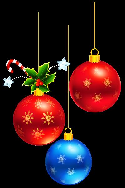 Transparent Deco Christmas Ornaments Clipart.
