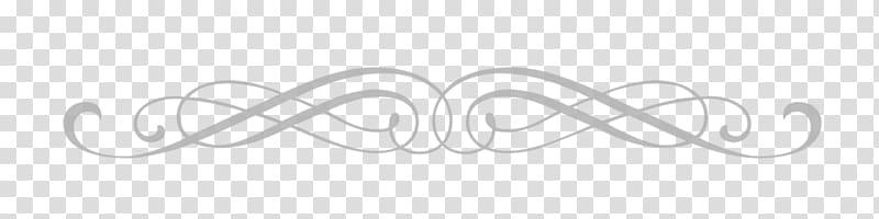 White design illustration, Art Nouveau Separator transparent.