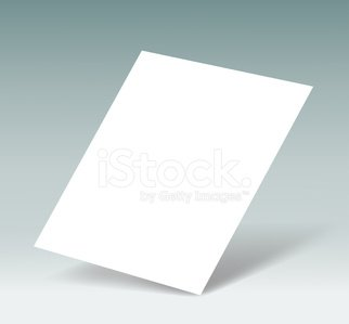 white sheet of paper Clipart Image.