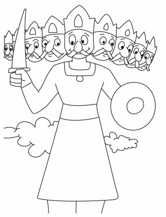 Happy Dussehra 2016 Coloring Pages, Black And White Sheets.