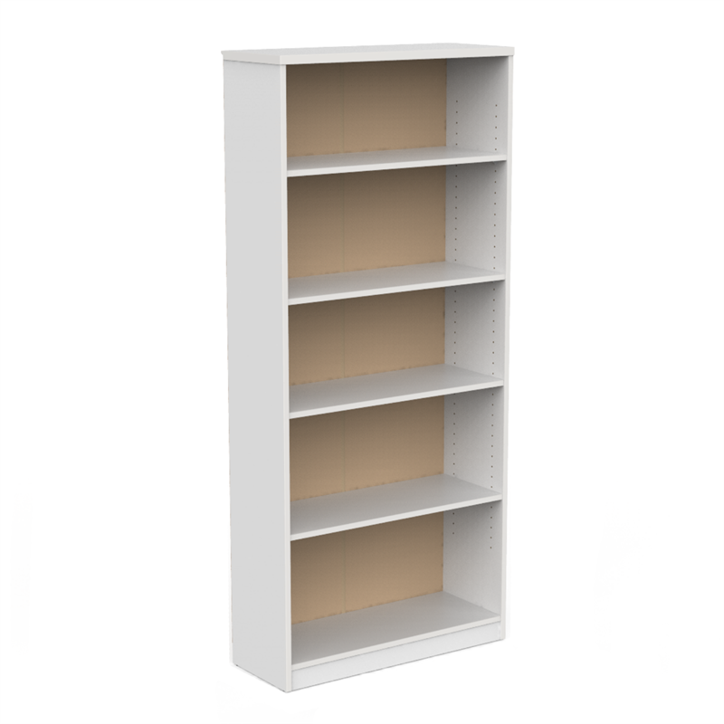CeVello 800 x 1800 x 300mm White Bookshelf.