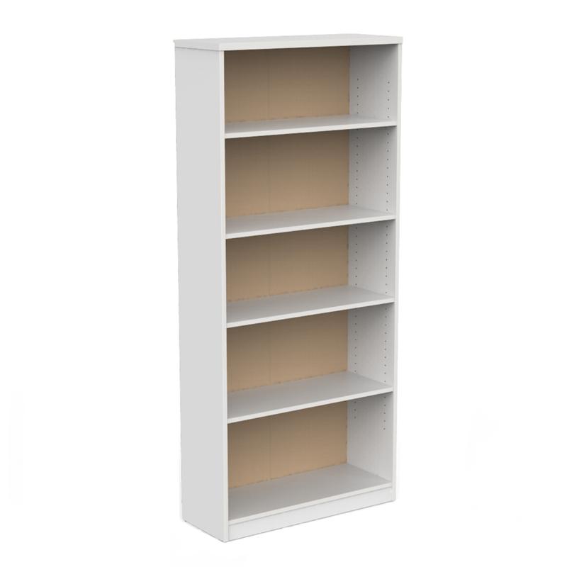 CeVello 800 x 1800 x 300mm White Bookshelf.