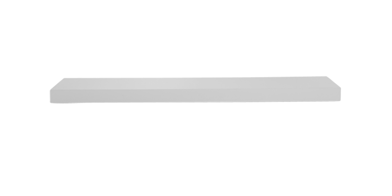 Modular Accord Floor Shelf in White Colour.