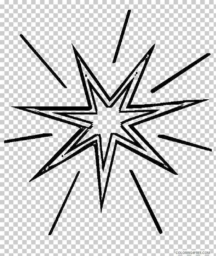 Coloring book Colouring Pages Pole star Polaris, shining.