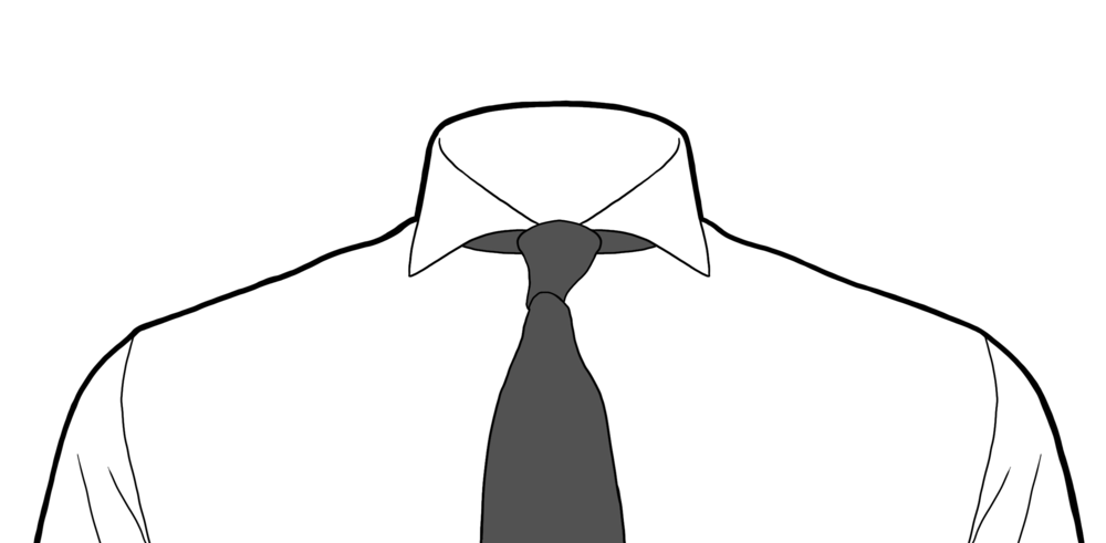 Shirt And Tie Clipart Black And White.